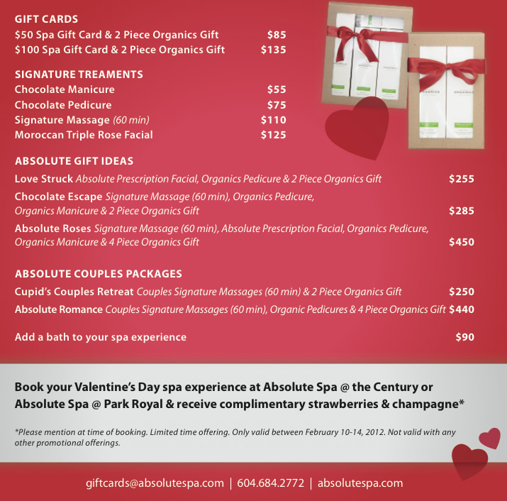 valentine's day packages | absolute spa group, Ideas